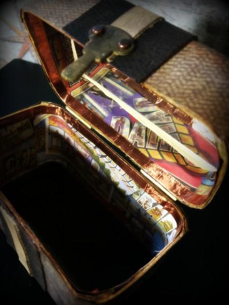 vintage case inside