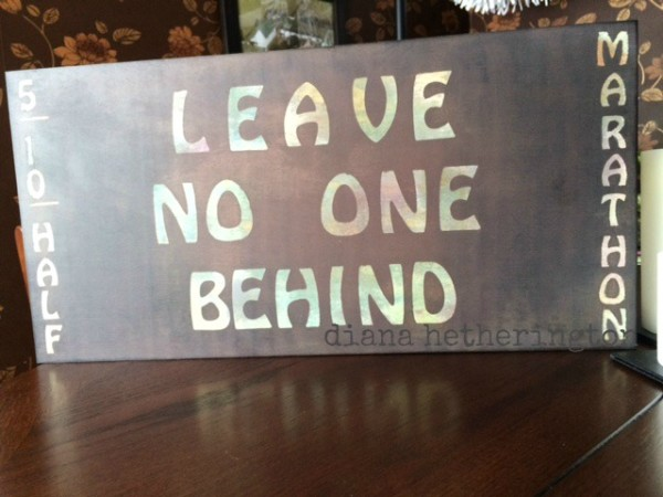 leave no one behind plaque