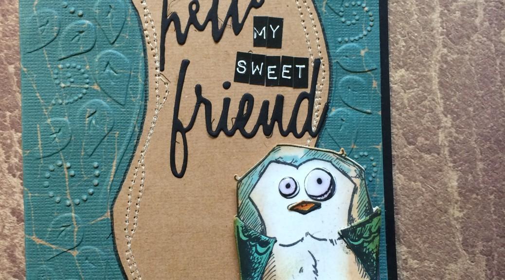 crazy bird hello friend