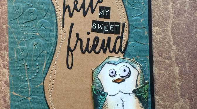 a crazy bird card