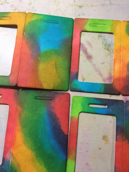new distress inks on luggage tag