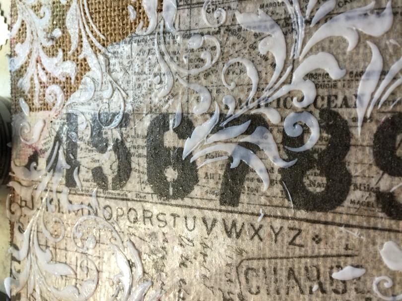 transparent texture paste