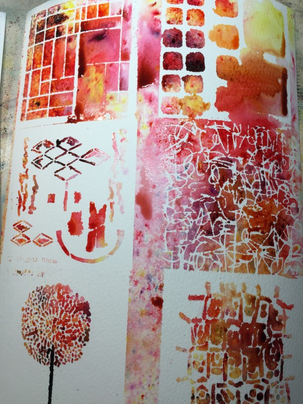 color burst stencil magic