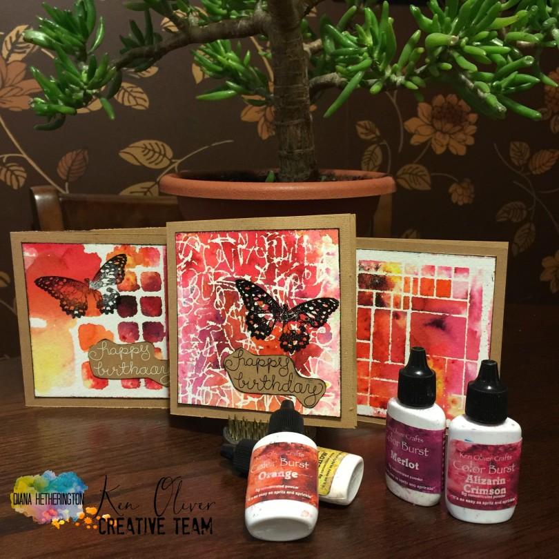 Ken Oliver color burst cards