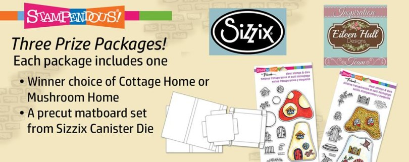 sizzix and stampendous mushrrom prize