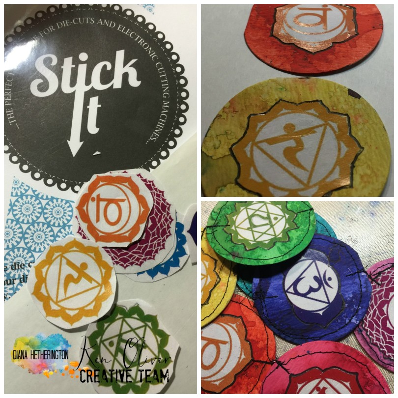 chakra banner with stick it