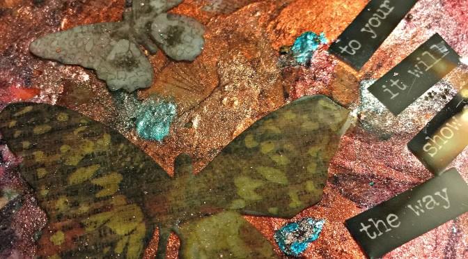 Coaster bursting with colour