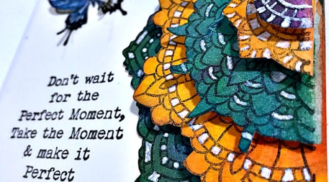 Mixed Media Monthly Challenge #39 – Perfect Moment